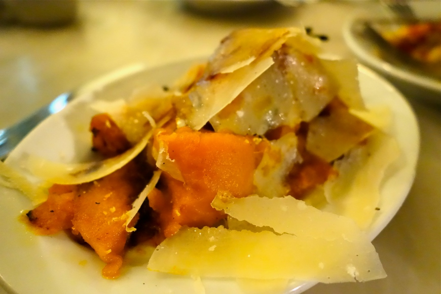 Roast pumpkin with sage, Parmesan & balsamic GBP 8