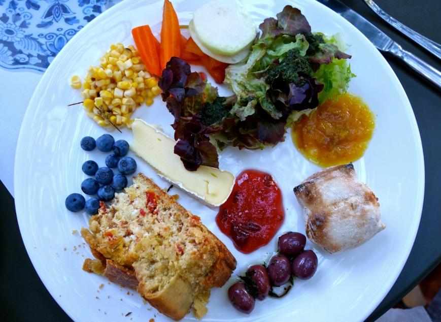 My salad plate at the post-wedding braai (BBQ)