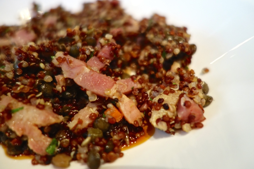 This quinoa was fabulously tasty and rich!