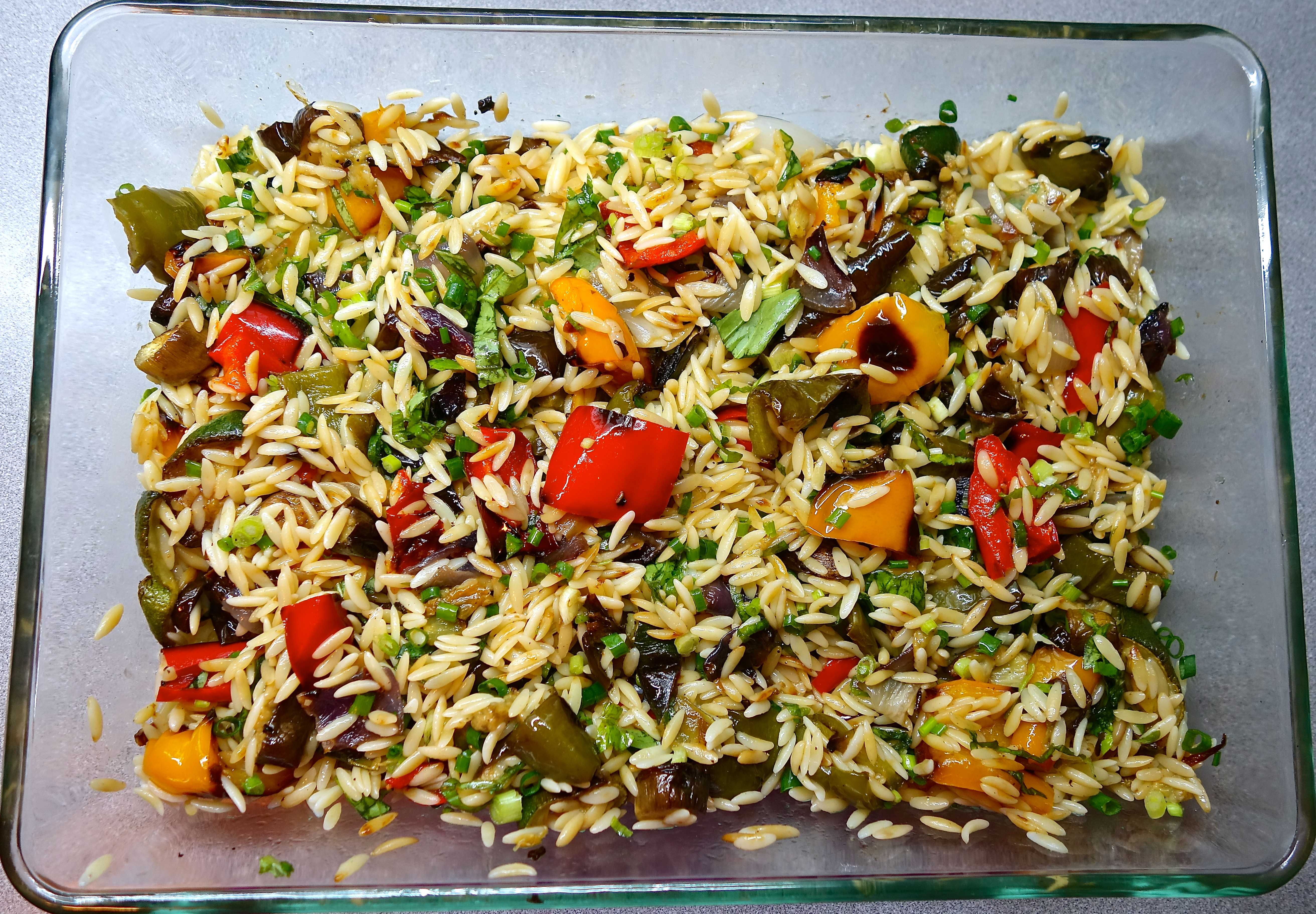 Cooking the books orzo with roasted vegetables lovebites for Rost garten