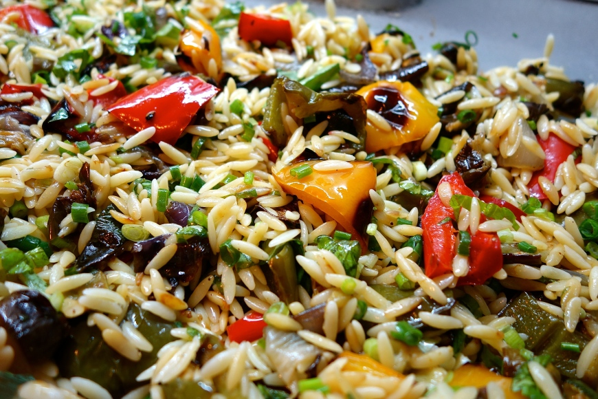 Try serving it with Roasted Vegetable and Orzo, it's a winning combination!