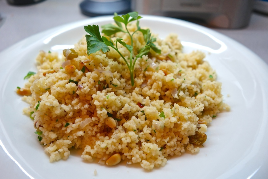 This chicken dish is nice to serve with a cous cous recipe, such as this cous cous with pine nuts and currants.