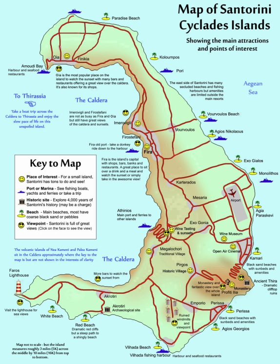 This fabulous map is from http://www.new-age.co.uk/ - check out the webiste for more Santorini information!